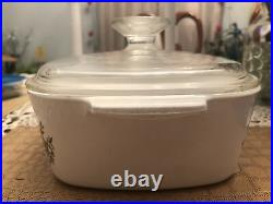 Vintage Pyrex Corning Ware Spice of Life Le Persil La Sauge Casserole Dish W Lid