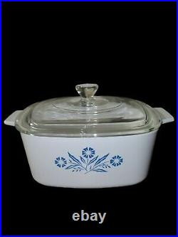 Vintage RARE Corning Ware Blue Cornflower Casserole Dish Set 12 pieces With Lids