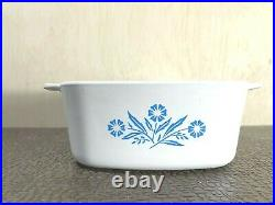 Vintage Rare Corningware Blue Cornflower Casserole Dish A-1 1/2 -b