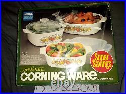 Vintage Spice O Life Corning Ware Cookware Trio Set La Persil La Sauge BRAND NEW
