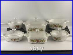 Vintage Spice of Life CorningWare 11pc Set Baking Casserole Dishes