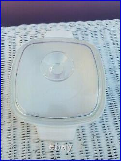 Vintage Square Casserole with Lid April Tulip Multicolor Centura by CORNING
