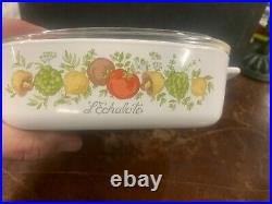 Vintage and Rare Lechaloto corningware dish with lid