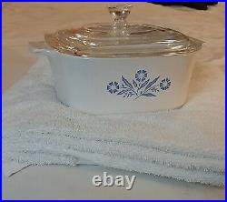 Vintage blue cornflower corning ware