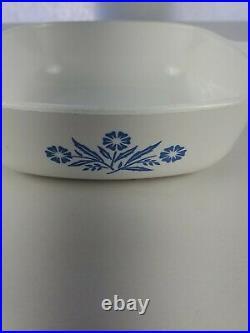 Vintage corning ware blue cornflower 1 quart/ 30 oz casserole dish Rare Canadian