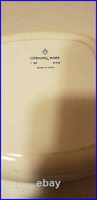 Vintage corning ware blue cornflower P-1-B