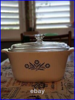 Vintage corning ware blue cornflower casserole