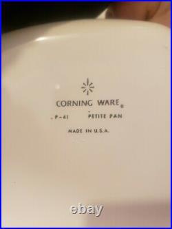 Vintage corning ware blue cornflower set