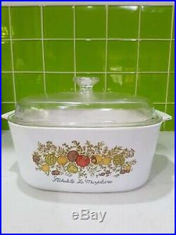Vintage corning ware casserole dish