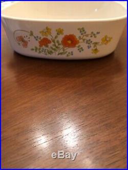 Vintage corning ware wildflower