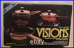 Visions Corning Ware 5 Piece 1987 Starter Set V Sealed! Vintage New
