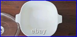 Vtg 1960s Corning Ware Blue Cornflower P-2 1/2-B Quart Casserole 2-Piece Set
