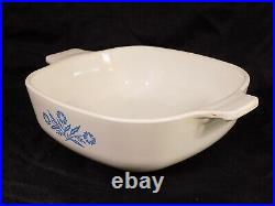 Vtg Corning Ware 1 Qt. Blue Cornflower P-1-B Baking Dish, Flame Stamp'61-'66