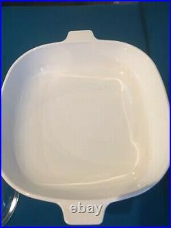 Vtg. Corning Ware Blue Cornflower 10-in. Sq. Casserole Baking Dish P-10-B withLid