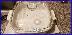 Vtg Corning Ware Blue Cornflower 2.5 L Qt Casserole Baking Dish A-10-b
