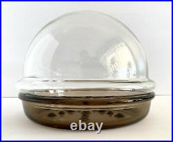 Vtg Corning Ware Plant Helpers Terrarium Glass Dome Tinted Saucer 9 Set PH-9