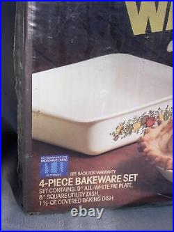 Vtg corning ware spice of life 4 Pc Bakeware Set New Sealed In Box P-260-8
